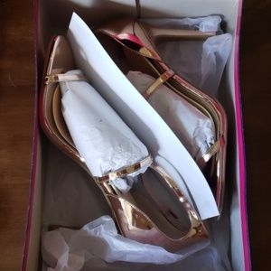Payless FIONI Rose Gold Stilettos, 11